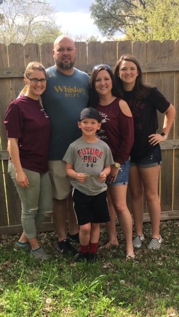 Josh, Natasha, and Krew with sisters, Kyleigh and Sarah